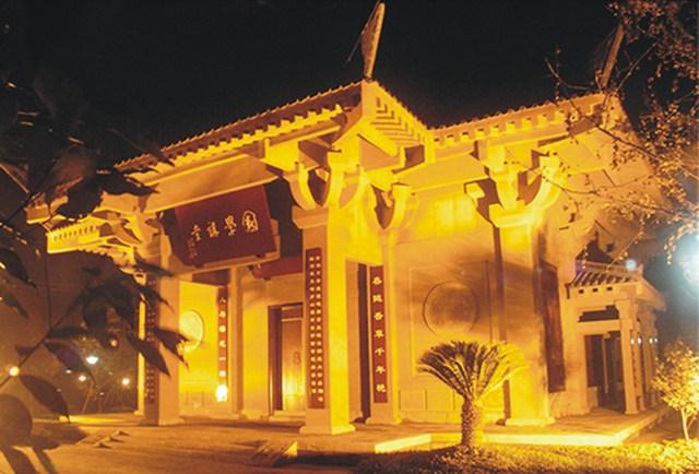成都文翁实验学校国学讲堂-成都亚林古建筑设计有限