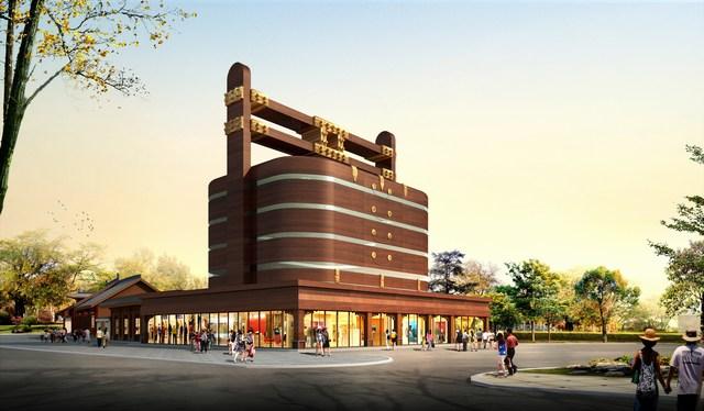 开封水系二期建业61七盛角等项目建筑施工图及景观亮化效果设计完成